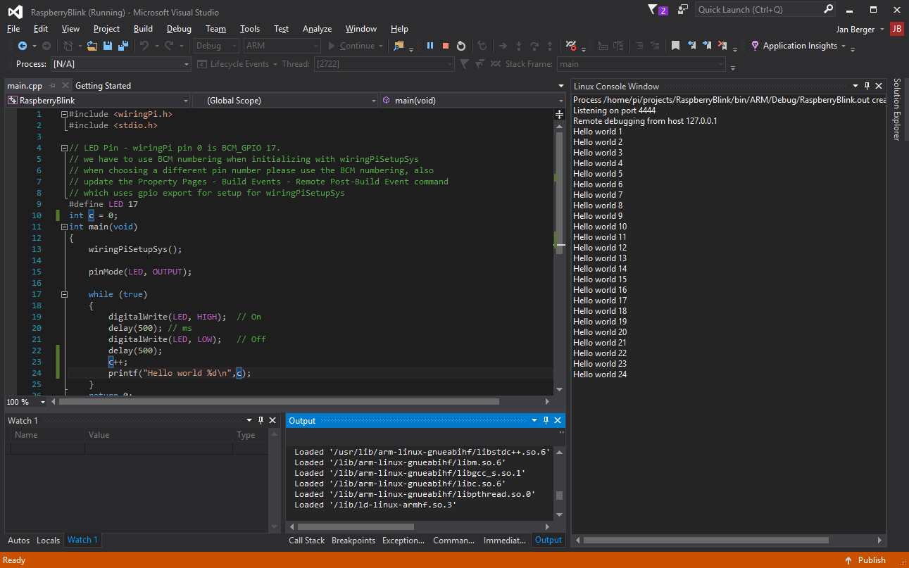 Visual Studio On Raspberry Pi Stm32 Basicpi Wiringpi License Visualstudioraspberrypi